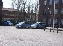 Polizei, Niemieccy policja narodowa samochody obraz royalty free