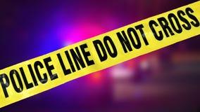 Polizei nimmt und helle Lichter auf Lizenzfreies Stockfoto