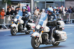 Polizei patrouilliert Stockfotos