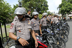 Polizei patrouilliert Stockfoto