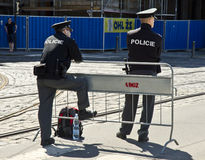 Polizei in Prag, Tschechische Republik Stockfotos