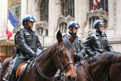 Polizei schützt an Heiliges Patricks-Tag Stockfotografie