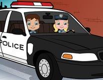 Polizei scherzt im Dienst Stockbilder