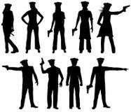 Polizei silhouettiert stock abbildung