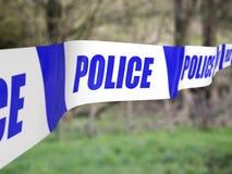 Polizei sperrt ab Stockfotos
