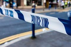 Polizei sperrt Band in London ab stockfoto