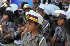 Polizei-Tag in Indonesien lizenzfreie stockfotos