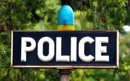 Polizei unterzeichnet Lizenzfreie Stockfotografie