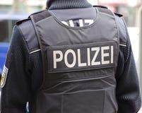 Polizei w Frankfurt główny Hauptbahnhof - Am - Obrazy Stock