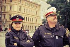 Polizei in Wien Lizenzfreies Stockbild