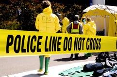 Polizei Zeile-EHS Stockfotografie