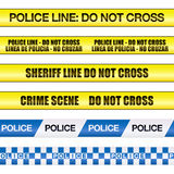 Polizei-Zeile kreuzen nicht Stockfoto