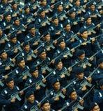 Polizeiaufgebot Stockfoto
