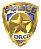 Polizeiaufgebot-Goldausweis lizenzfreie abbildung