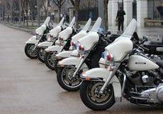 Polizeiaufgebot am Weißen Haus Stockfotografie