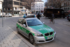 Polizeiautomobil in München Stockfotografie