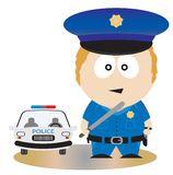 Polizeibeamte vektor abbildung