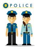 Polizeibeamte in der Uniform Stockbild