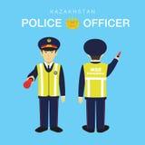 Polizeibeamte in Kasachstan lizenzfreie stockfotos