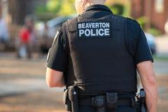Polizeibeamte am Th eevent stockbilder