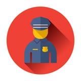 Polizeibeamteikone Lizenzfreies Stockfoto