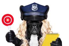Polizeibeamtinhund mit Kartengeldstrafe Lizenzfreie Stockfotografie