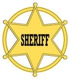 Polizeichefabzeichen Stockbild