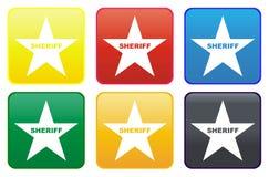 Polizeichefsternweb-Taste lizenzfreie abbildung