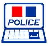 Polizeicomputer Stockbild