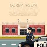Polizeidienststelle Banner5 Stockfoto