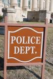 Polizeidienststelle-Zeichen Stockfotografie