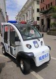 Polizeielektro-mobil Lizenzfreies Stockfoto