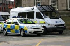 Polizeifahrzeuge Stockfotos