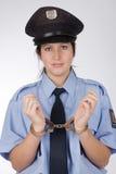 Polizeifrau Stockbild