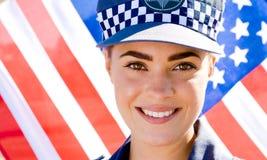 Polizeifrau Lizenzfreie Stockfotografie