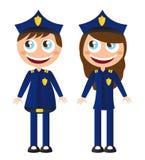 Polizeikarikaturen Lizenzfreie Stockbilder