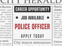 Polizeikarriere lizenzfreie abbildung