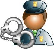 Polizeikarriereikone oder -symbol Stockbild