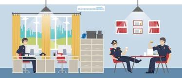 Polizeikommissariatsraum Stockbild