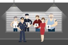 Polizeikommissariatsraum Stockfotos