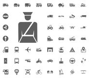 Polizeikommissarikone Gesetzte Ikonen des Transportes und der Logistik Gesetzte Ikonen des Transportes Lizenzfreie Stockbilder