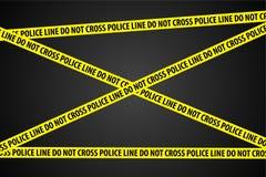 Polizeiliche Untersuchung Stockbild