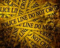 Polizeiliche Untersuchung Stockfoto