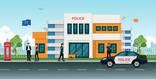 Polizeirevier lizenzfreie abbildung