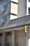 Polizeirevier mit Ampel Lizenzfreie Stockbilder