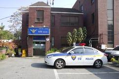 Polizeirevier und Auto in Seoul
