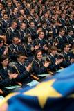 Polizeischuleabsolvent stockbilder