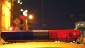 Polizeisirene stock footage