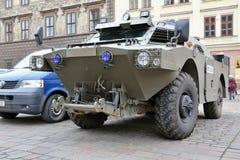 Polizeitransporter stockbild
