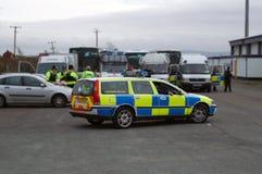 Polizeiwagen Stockfotografie